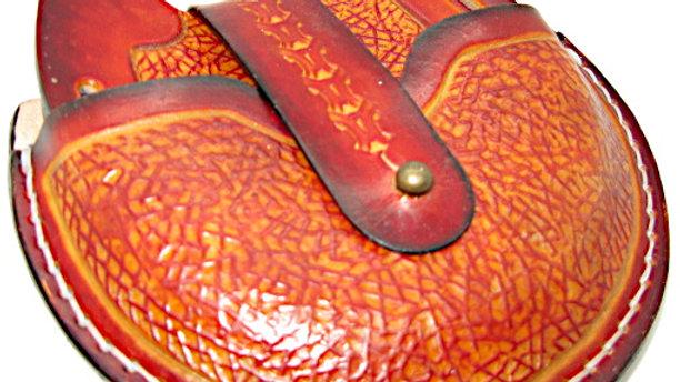 Deluxe Set of four Leather Horseshoe Coaster with Holder