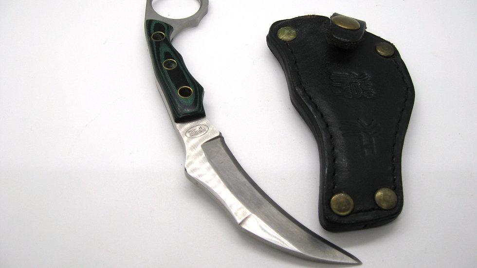 Handmade Indonesian karambit with Leather knife sheath