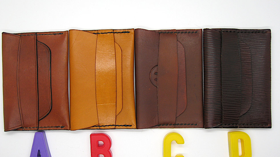 Minimalist Leather Wallet, Leather ID wallet, Leather card holder, Leather Flap