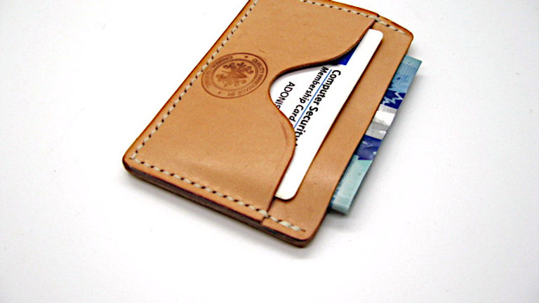 minimalist card holder | Classic-three pocket wallet design