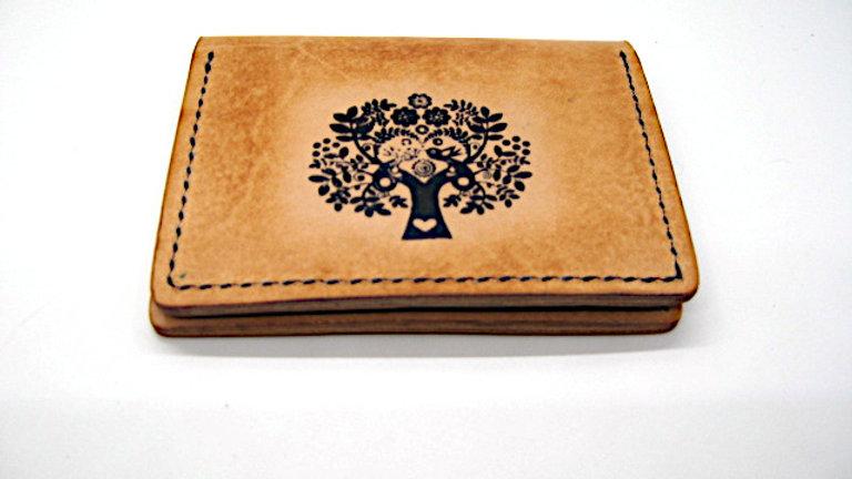 Elegant Handmade Business Card Holder, Credit card holder, 4 Pockets Bi-Fold