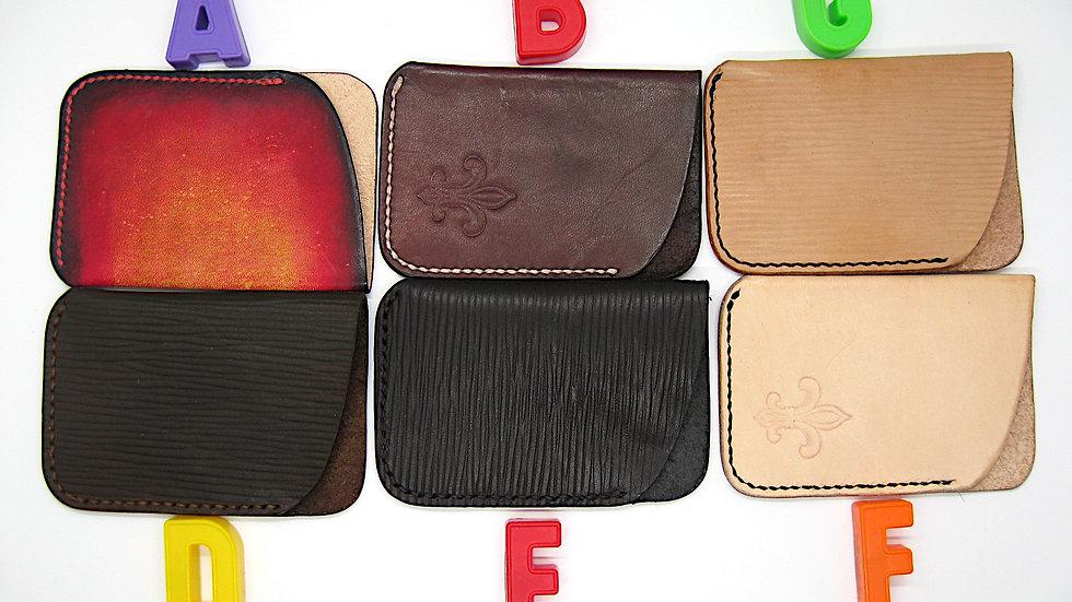 Slim Card Wallet Handmade CowHide Leather