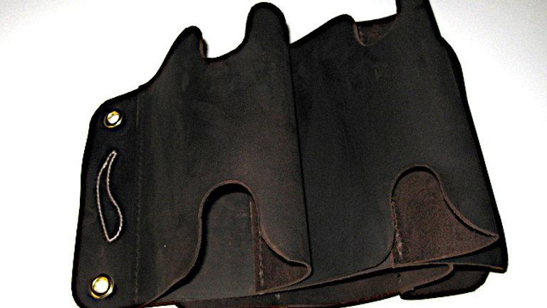 Stylish Leather Wine Bottles Rack Wall Mounted