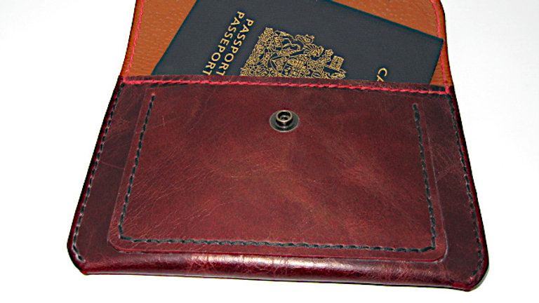 Leather Passport & Notepad Cover, Passport Holder   Leather FARAON Lined Pigskin