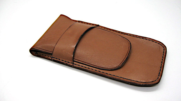Handmade Leather pen pouch, Leather pencil case, Leather pencil holder