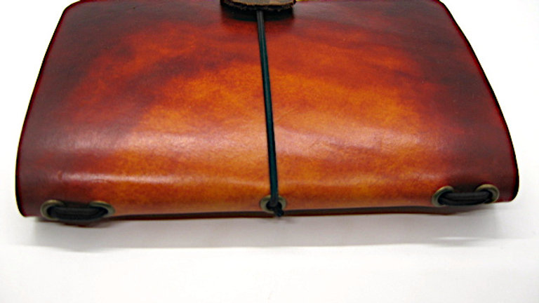 """Leather Midori Field Notebook style for (9x14cm, 3½x5½"""") Brown gradient"""