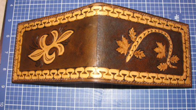 Tooled Leather Pocket 3x5 Memo Book cover note pad holder, Duty Memo, Duty Notes