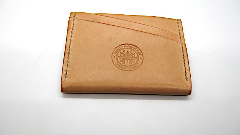 A Five slot card wallet Veg-Tanned Leather