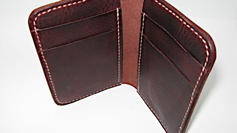 Badalassi Carlo Leather - Elegant Card Holder, Vertical 6 Pockets Wallet