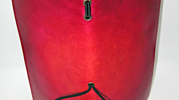 """Leather Midori style Traveller's Notebook for (11x21cm, 4¼x8¼"""") Red gradient"""