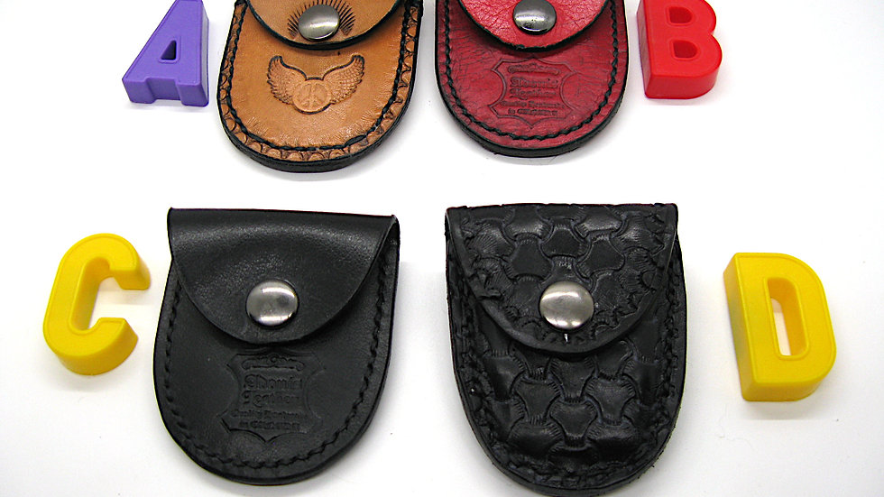 Leather Small Pouch for USB key or small items with Belt loop