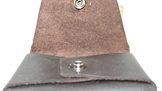 Minimalist Leather Wallet, Leather ID wallet No stitching
