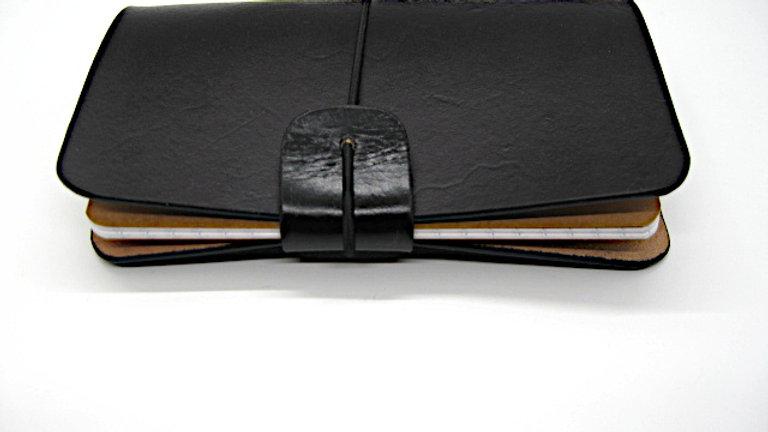 "Leather Midori Field Notebook style for (9x14cm, 3½x5½"") Dark Chocolate"
