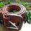 Thumbnail: Handmade Leather Belt with Tooling and heavy duty buckle Natural no dye