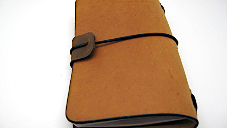 """Leather Midori Field Notebook style for (9x14cm, 3½x5½"""") Wheat Tan"""