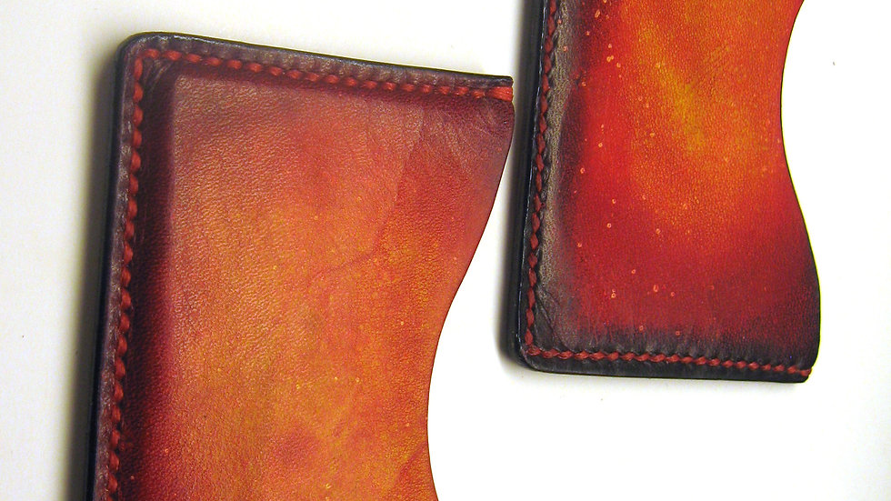 Cybele Galaxy Minimalist Leather Wallet, Leather ID wallet, Leather card holder
