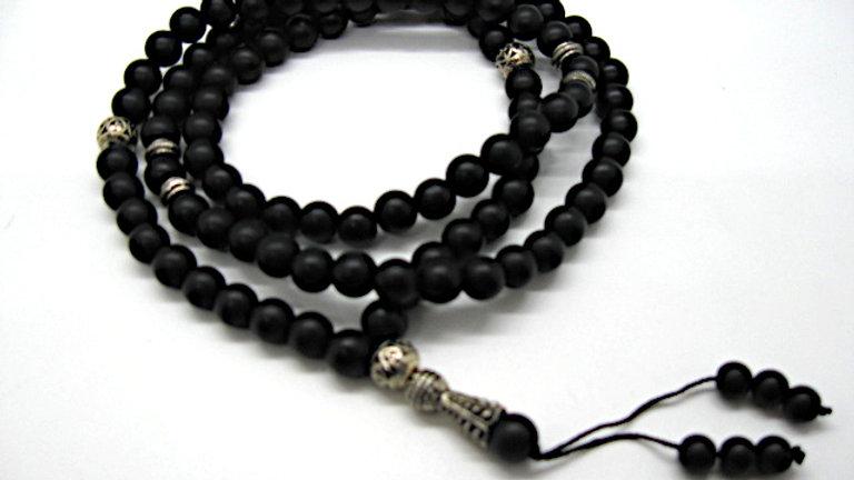 Natural Agates Stone Tesbih Misbaha Islam 99 beads