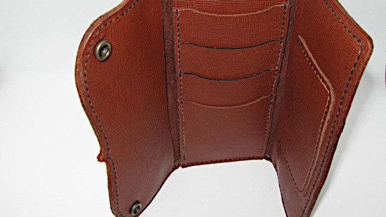 Elegant Handmade Leather Biker,Trucker,Roper Style Long Wallet 6 pockets