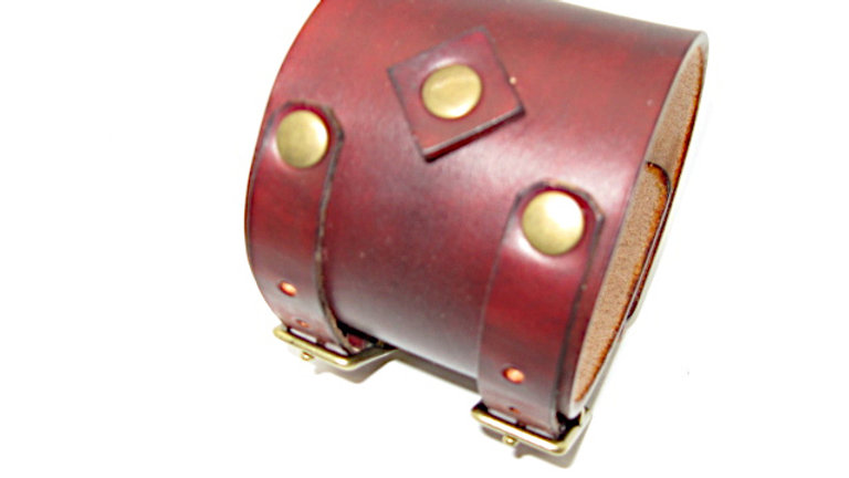 Coyote Peterson double buckle leather cuff , Johnny Depp Cuff British Tan