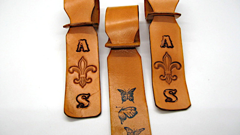 Hand aged Wax Leather Luggage ID Tags Pack of 2
