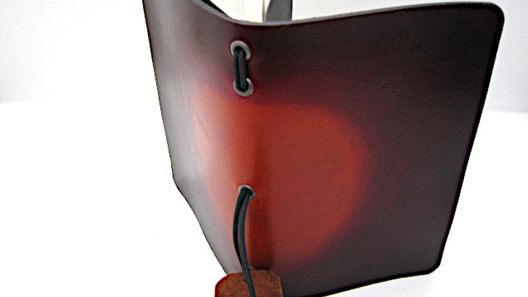 """Leather Midori Field Notebook style for (9x14cm, 3½x5½"""") Red Nova gradient"""