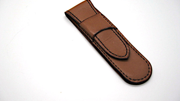 Handmade Leather pen pouch, Leather pencil case, Leather pencil holder (Lined)