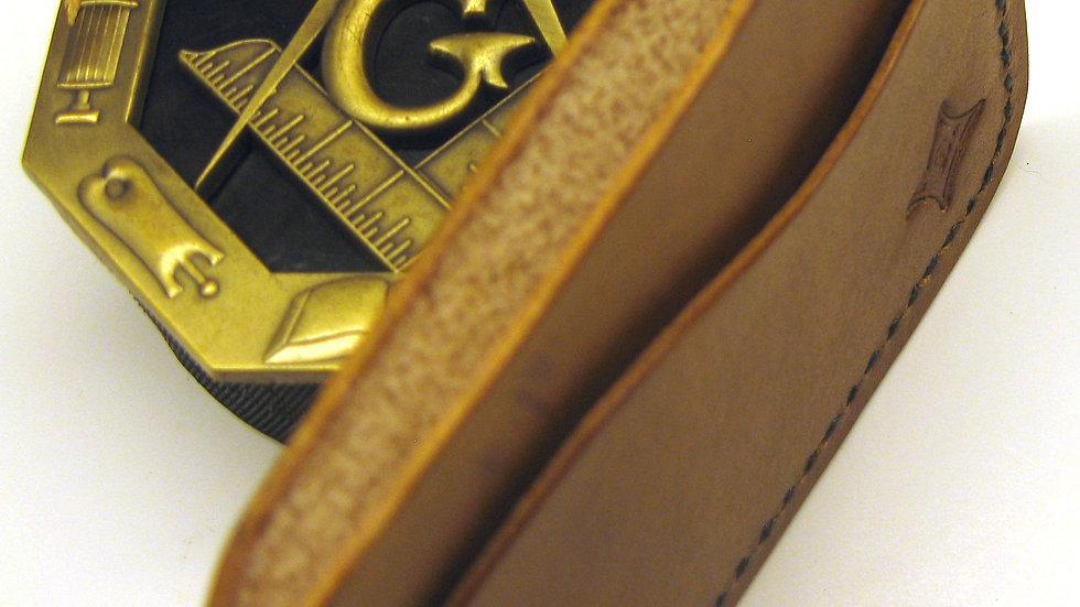 Freemason Minimalist Elegant Leather Card Holder