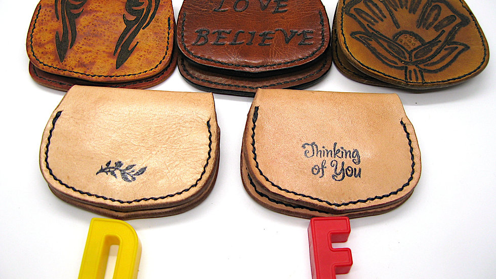 Elegant Milled Cowhide Leather Coin Pouch