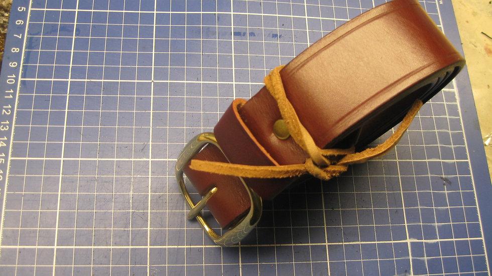 "Stylish Heavy Duty 1-1/2"" Hermann Oak English Bridle Leather"