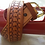 Thumbnail: Handmade Leather Belt with Tooled Arrow and heavy duty buckle