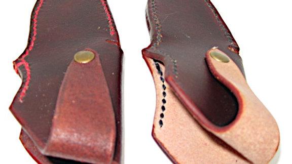 Tooled Small Belt knife sheath, Blade Sheath (ON SALE)