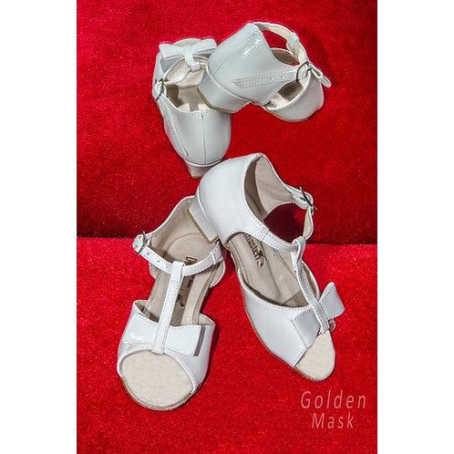 Туфли рейтинговые для девочек | Белый лак