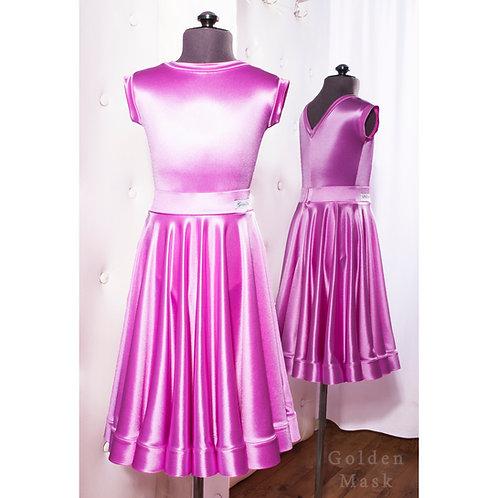 Платье рейтинговое |Юбка 1.5 солнца| Лаванда | Сатин Вельвет