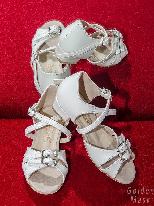 Туфли рейтинговые для девочек | Белая кожа