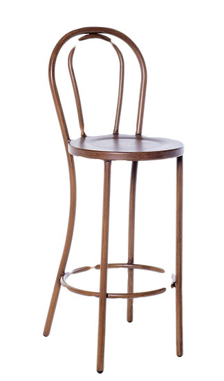Bentwood Stool in brown