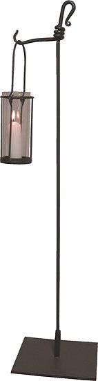 Hurricane Lamp and Floor Stand