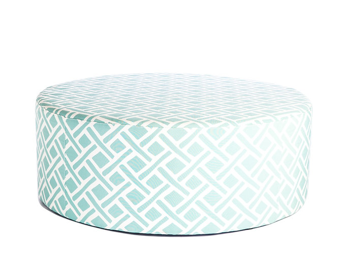 Moroccan Ottoman in teal