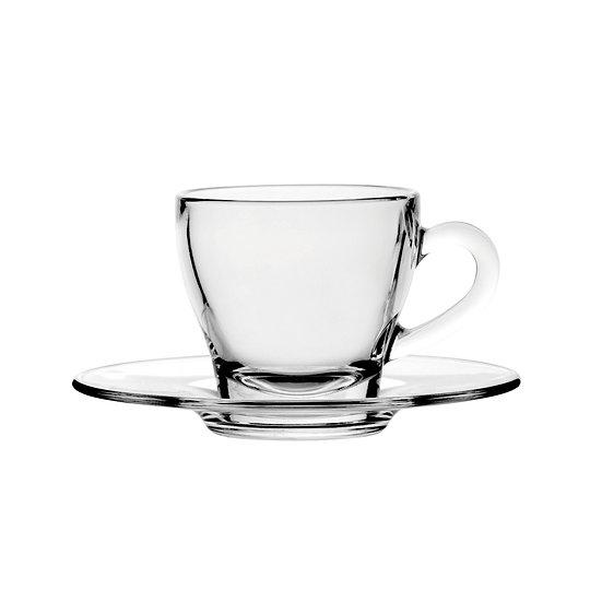 Espresso Cup & Saucer glass