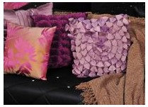 Cushions in Purple & Rose