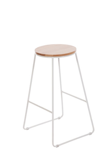 Hugo Stools in white and timber
