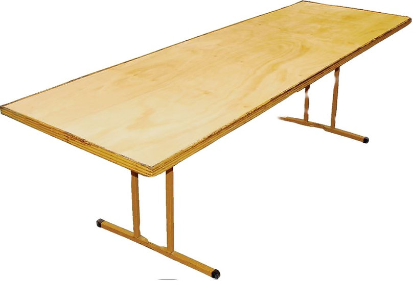 2.4m Rectangle Trestle Table