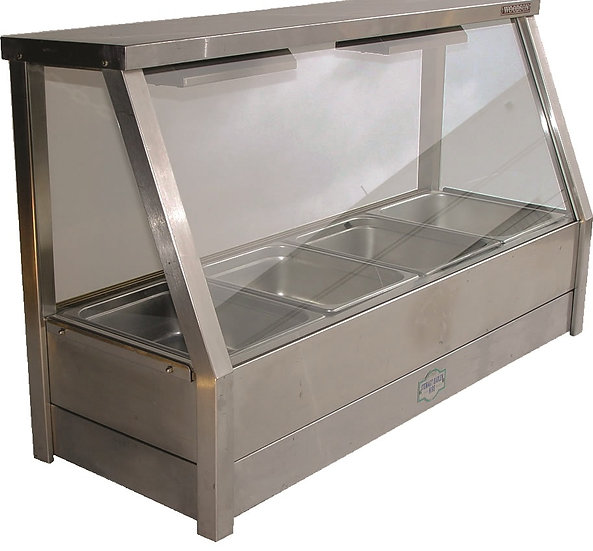 Bain Marie Wet Or Dry 4 Dish Glass Front
