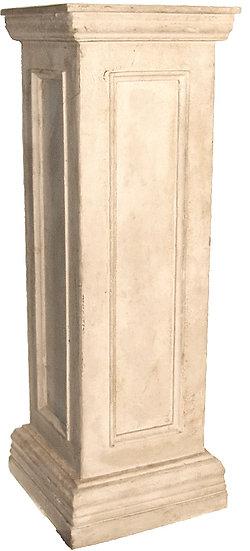 Pedestal in winter white