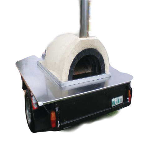 Trailer Mounted Wood Fired Pizza Oven
