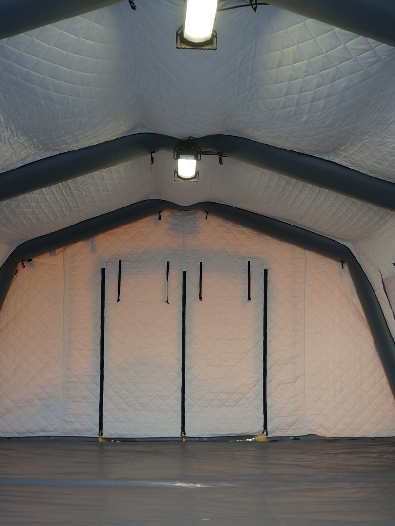 Interior view tent