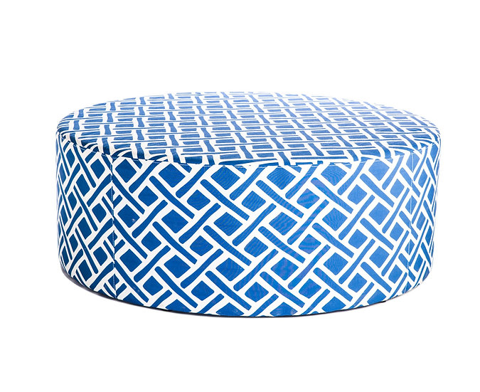 Moroccan Ottoman in navy