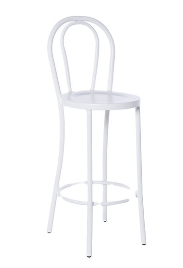 Bentwood Stool in white