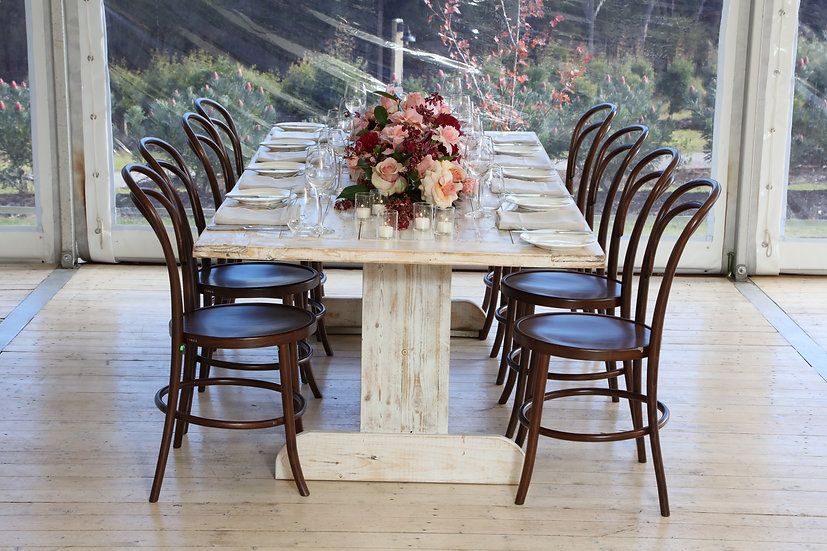 White Wash Timber Table