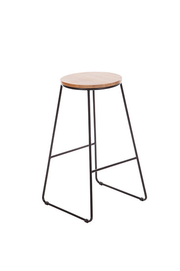Hugo Stool in black and timber