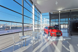 internal Audi Showroom with Audi